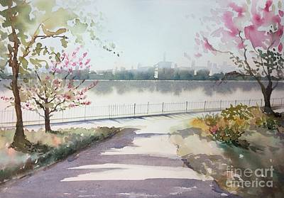 City Scape Painting - Spring In The City by Yohana Knobloch