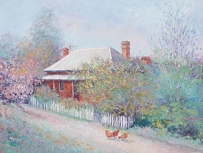White Picket Fence Painting - Spring In The Country by Jan Matson