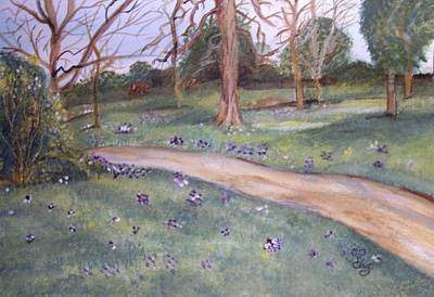 Painting - Spring In The Park 2 by Carole Robins