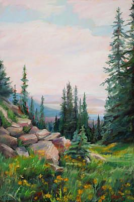 Steamboat Painting - Spring In The Rockies by Marie Massey