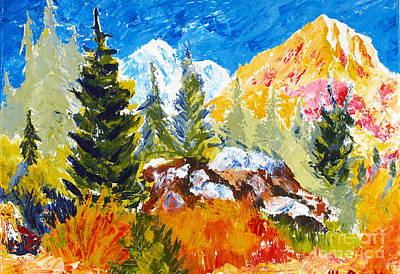 Painting - Spring In The Rockies by Walt Brodis