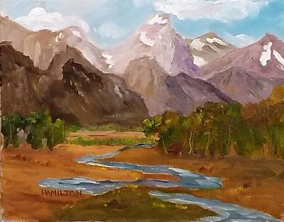 Painting - Spring In The Tetons by Larry Hamilton