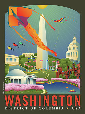 Kite Wall Art - Digital Art - Spring In Washington D.c. by Joe Barsin