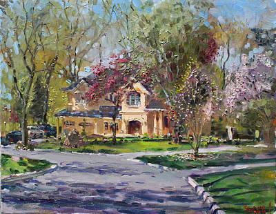 Toronto Painting - Spring In Wateska Bulvd by Ylli Haruni