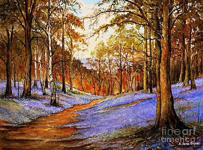 Forestry Painting - Spring In Wentwood  Warm Edit by Andrew Read