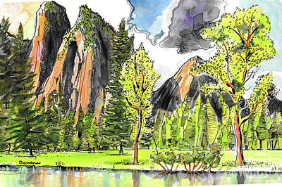 Painting - Spring In Yosemite by Terry Banderas
