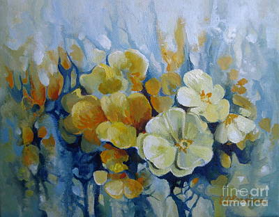 Art Print featuring the painting Spring Inflorescence by Elena Oleniuc