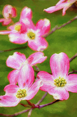 Painting - Spring Is For Dogwoods Ap by Dan Carmichael