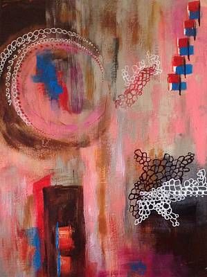 Art Print featuring the painting Squiggles And Wiggles # 4 by Suzzanna Frank
