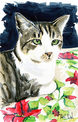 Painting - Spring Is In The Air - Cat Painting by Dora Hathazi Mendes