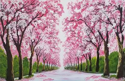 Cherry Blossoms Painting - Spring Is In The Air by Deepa Sahoo