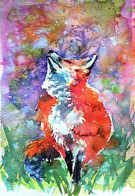 Painting - Spring Is In The Air - Red Fox by Kovacs Anna Brigitta