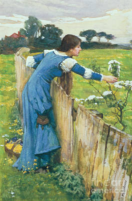 Leaning Painting - Spring by John William Waterhouse