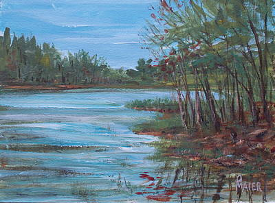 Lakescape Painting - Spring Lake by Pete Maier