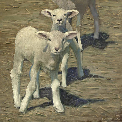 Spring Lambs Brothers Art Print