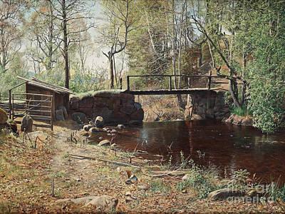 Landscape Painting - Spring Landscape From Graversfors by Celestial Images