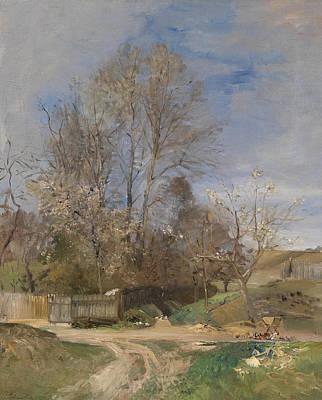 Painting - Spring Landscape From Plankenberg by Emil Jakob Schindler