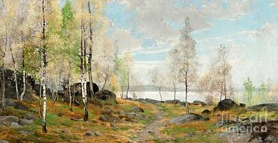 Painting - Spring Landscapes by Celestial Images