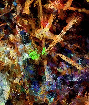Digital Art - Spring Leaf Abstract by Aliceann Carlton
