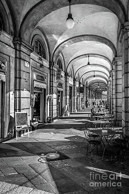 Genoa Bar Photograph - Spring Light In Porticos by Italy Art and Soul
