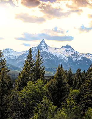 Photograph - Spring Light On Beartooth Mountain by Dan Sproul