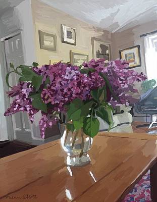 Painting - Spring Lilacs by Melissa Abbott