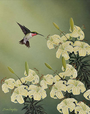Painting - Spring Lilies by Don Engler