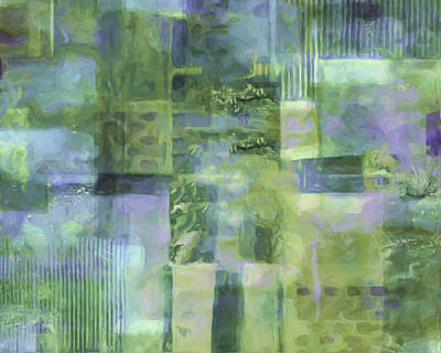 Champagne Painting - Spring Lime by Lee Ann Asch
