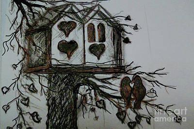 Painting - Spring Love Birds by Pati Pelz