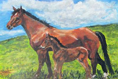 Hanoverian Painting - Spring Love by Caroline Owen-Doar