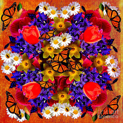 Digital Art - Spring Mandala 2016 by Kathryn Strick