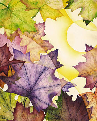 Spring Maple Leaves Art Print by Christina Meeusen