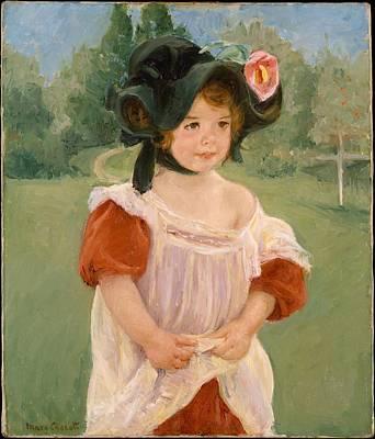 Spring Margot Standing In A Garden Fillette Dans Un Jardin Original