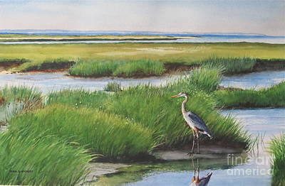 Spring Marsh Art Print by Karol Wyckoff