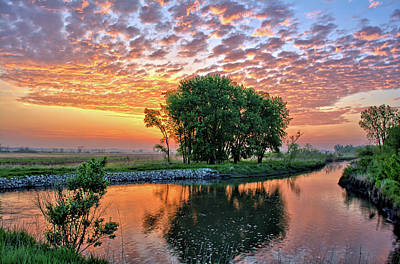 Photograph - Spring Marsh Sunrise 2018 by Bonfire Photography