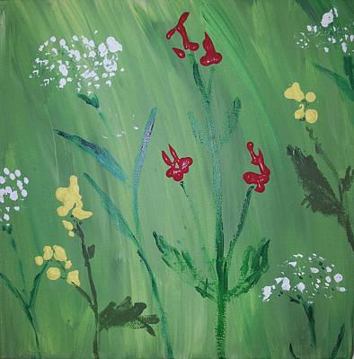 Wall Art - Painting - Spring Meadow by Helen Krummenacker