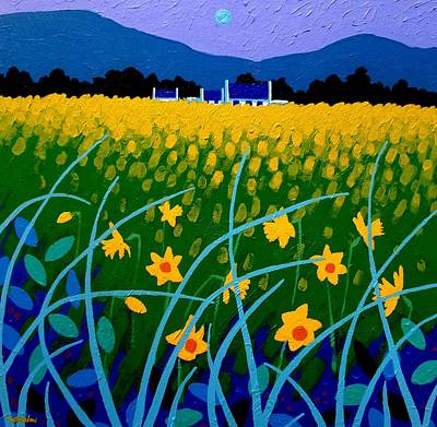 Daffodils Painting - Spring Meadow by John  Nolan