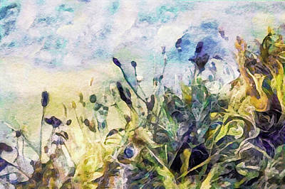 Mixed Media - Spring Meadow Rain by Susan Maxwell Schmidt