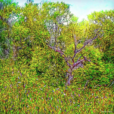 Digital Art - Spring Meadow Tapestry by Joel Bruce Wallach