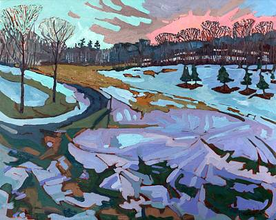 Thousand Islands Painting - Spring Melt by Phil Chadwick