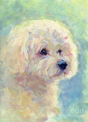 Pastel Pet Portrait Painting - Spring Mickee by Kimberly Santini