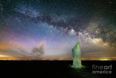 Photograph - Spring Milky Way At Teter Rock by Jean Hutchison