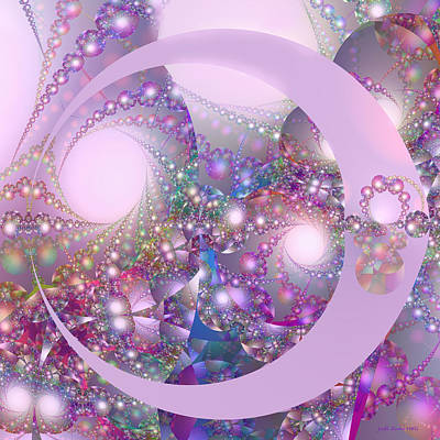 Digital Art - Spring Moon Bubble Fractal by Judi Suni Hall