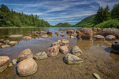 Photograph - Spring Morning At Jordan Pond by Rick Berk