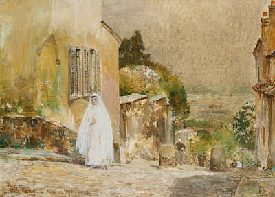 Spring Scenes Painting - Spring Morning At Montmartre by Childe Hassam