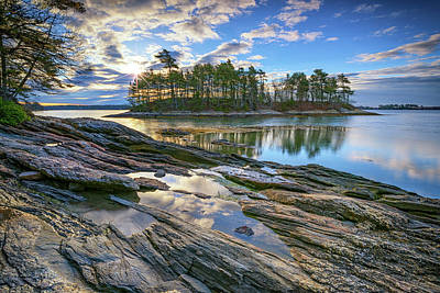 Atlantic Ocean Photograph - Spring Morning At Wolfe's Neck Woods by Rick Berk