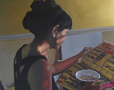 Interior Scene Painting - Spring Morning Cabot Arkansas by Thu Nguyen