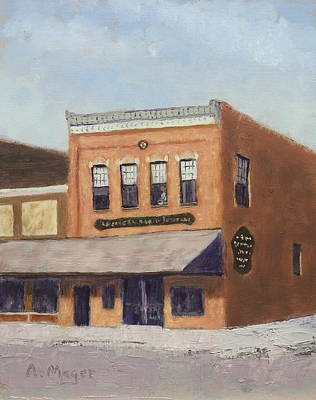 Painting - Spring Morning Downtown by Alan Mager