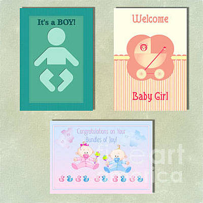 Digital Art - Spring New Baby by JH Designs