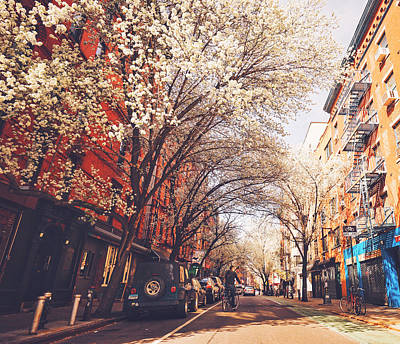 Spring - New York City - Lower East Side Art Print by Vivienne Gucwa
